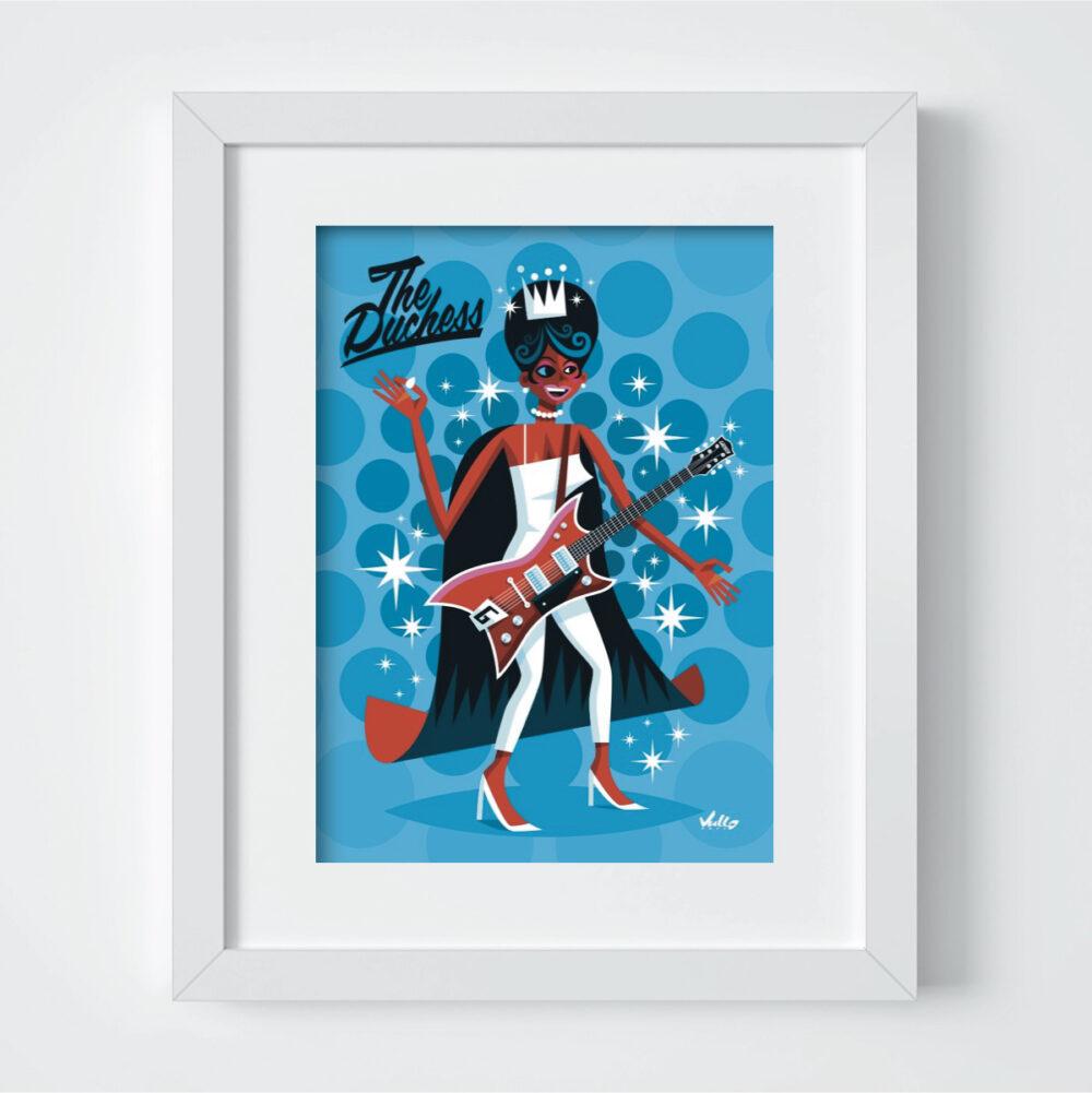 Carte postale The Duchess avec cadre