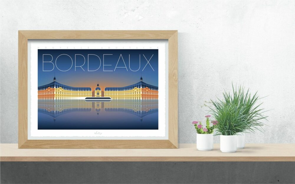 Bordeaux poster with frame