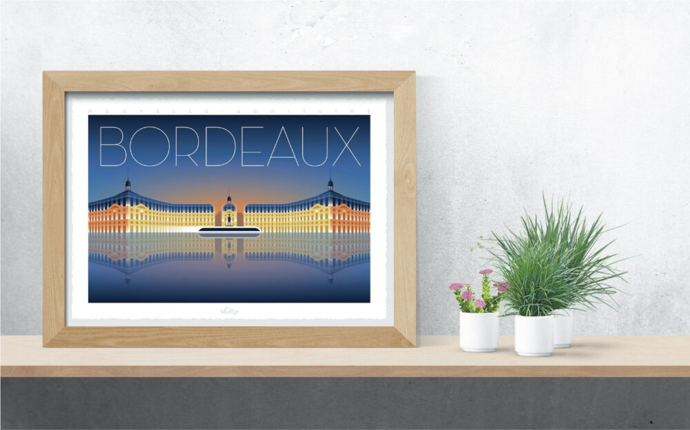 Affiche Bordeaux avec cadre