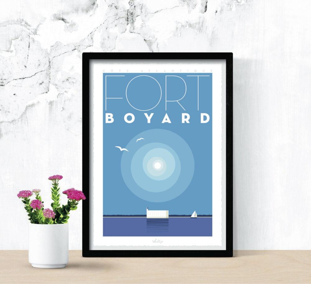 Affiche Fort Boyard avec cadre