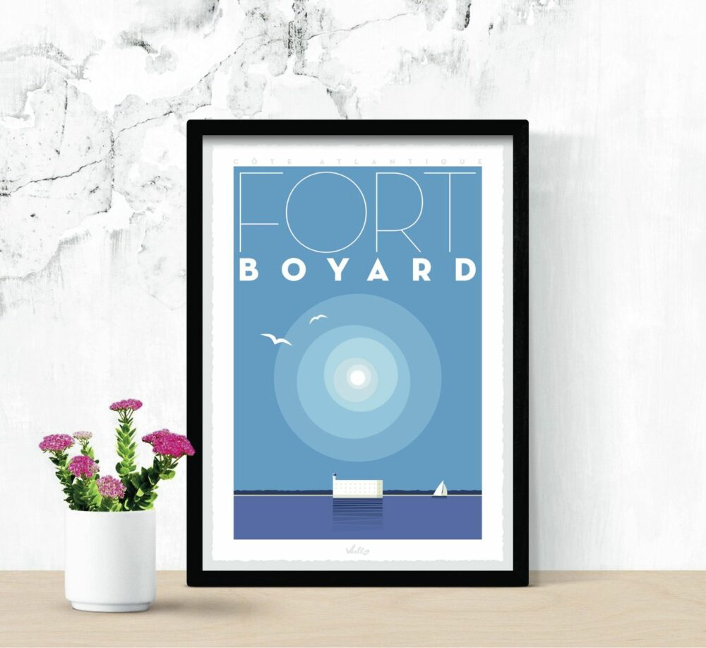 Fort Boyard poster with frame