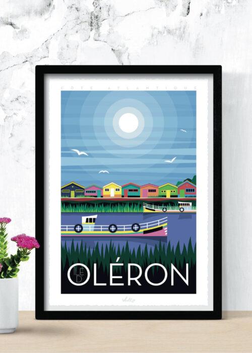 Ile d'Oléron poster with frame