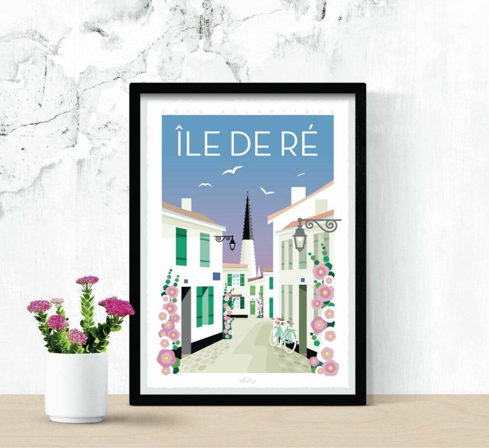 Ile de Ré poster with frame