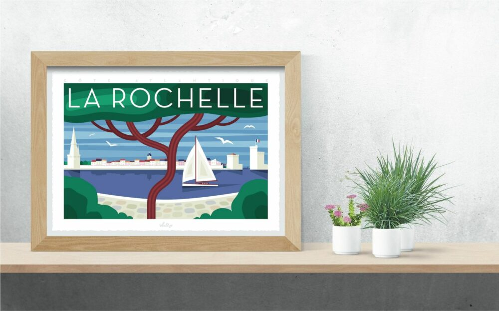 La Rochelle 2 poster with frame