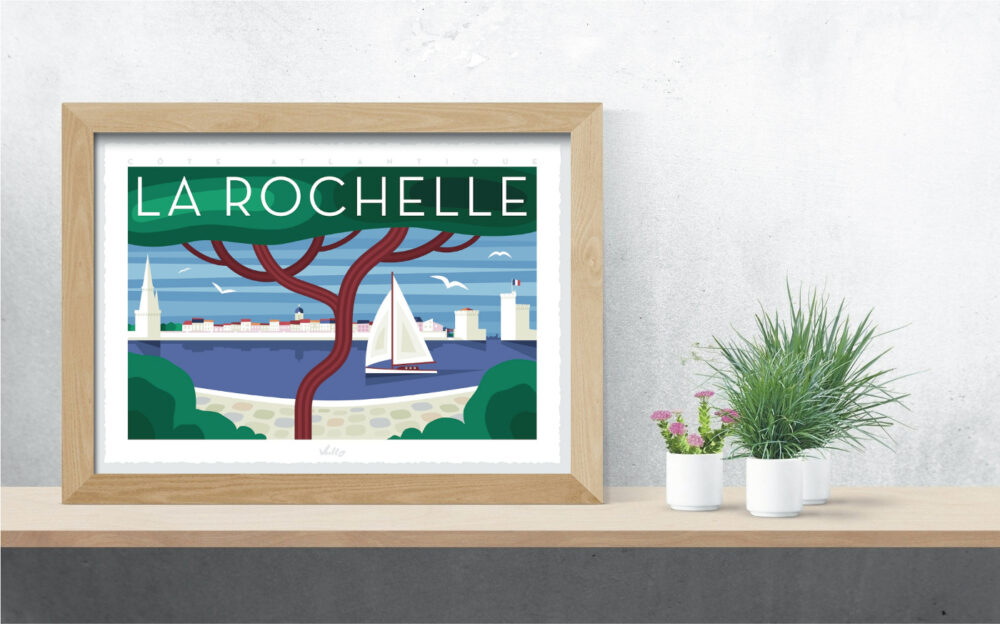 Affiche La Rochelle 2 avec cadre