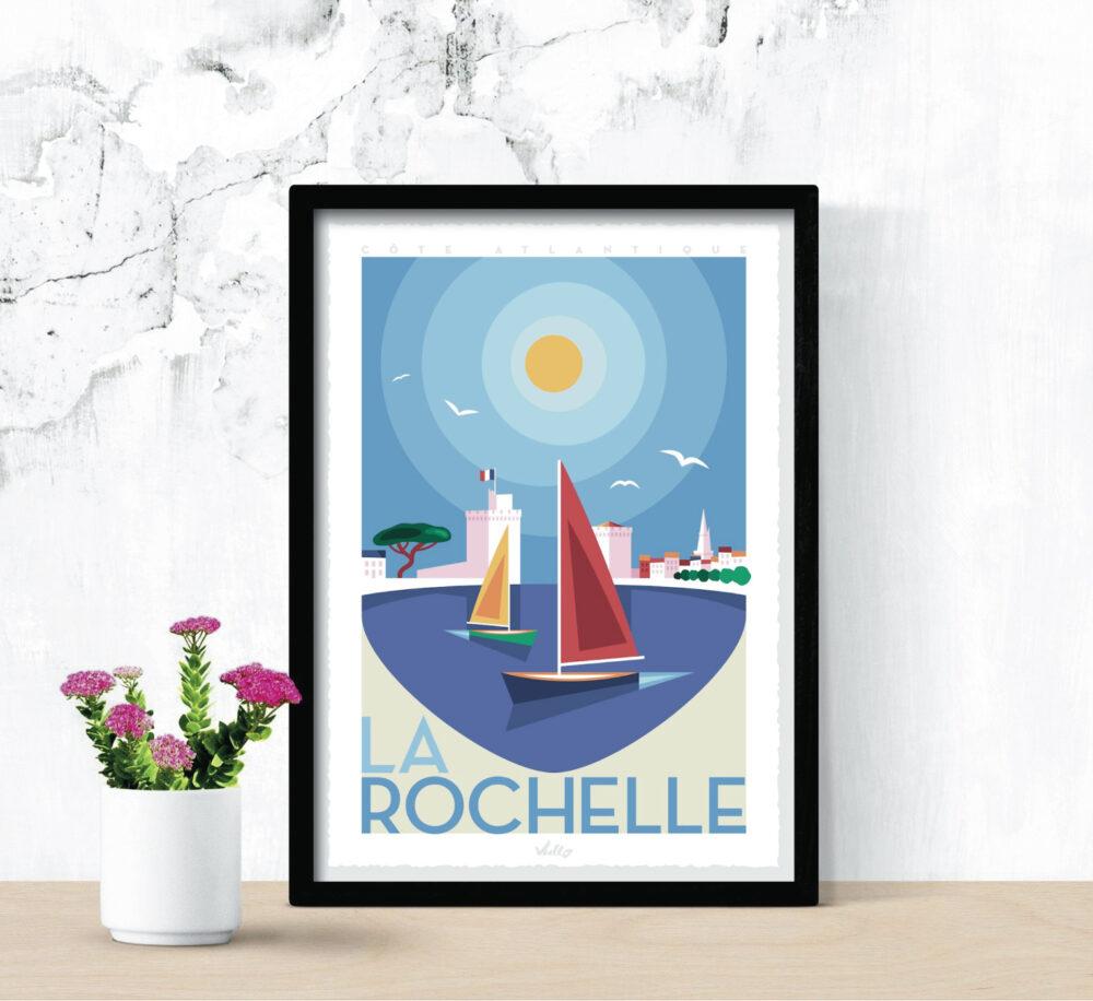 Affiche La Rochelle 1 avec cadre