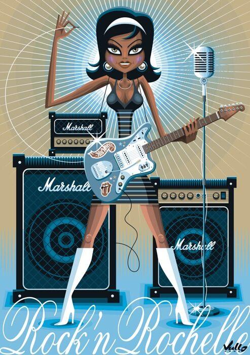 Carte postale Rock 'n Rochelle
