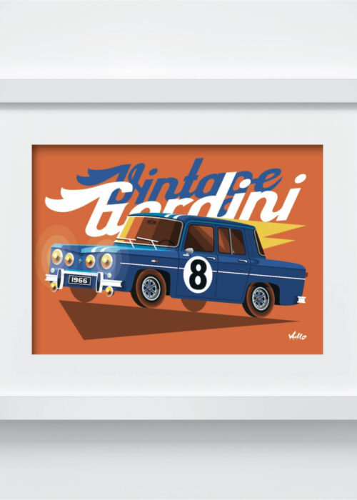 Carte postale Vintage Gordini avec cadre