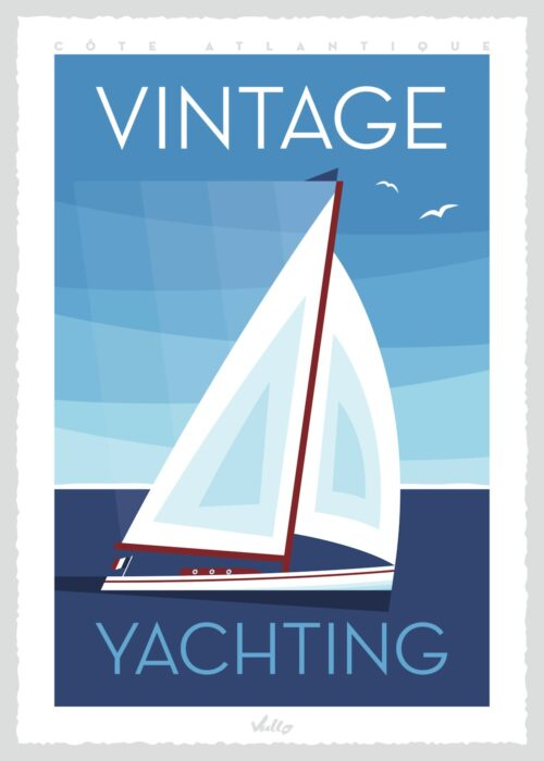 Vintage Yachting poster