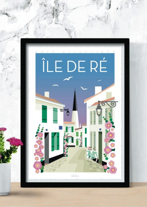 Affiche Île de Ré en situation