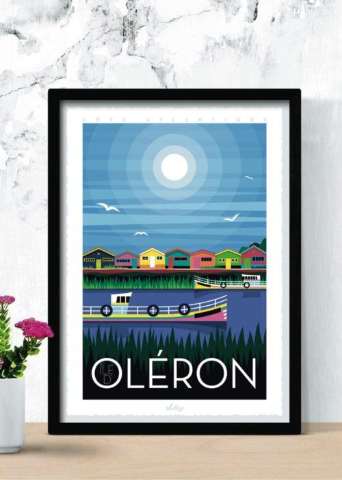 Affiche Île d'Oléron en situation