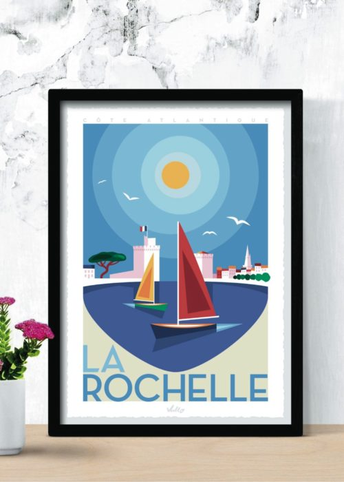 La Rochelle 1 poster with frame