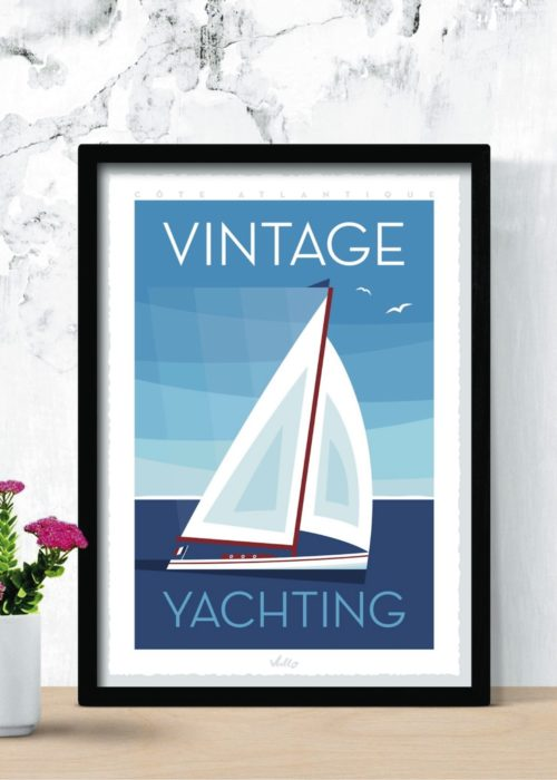 Affiche Vintage Yachting en situation
