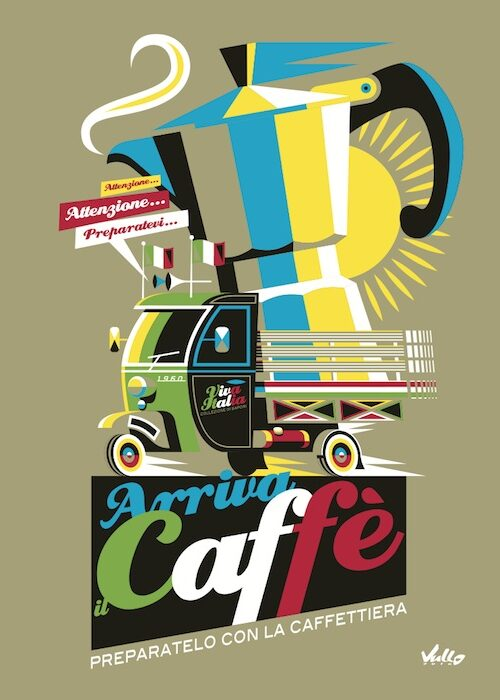 Arriva Il Caffe postcard