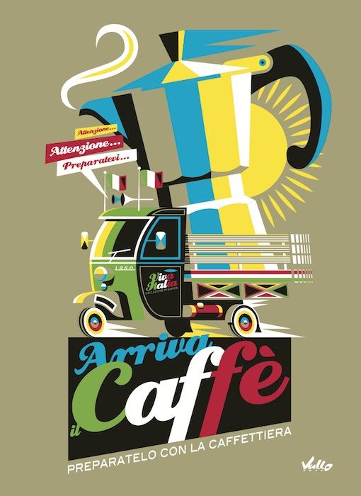 Carte postale Arriva Il Caffe
