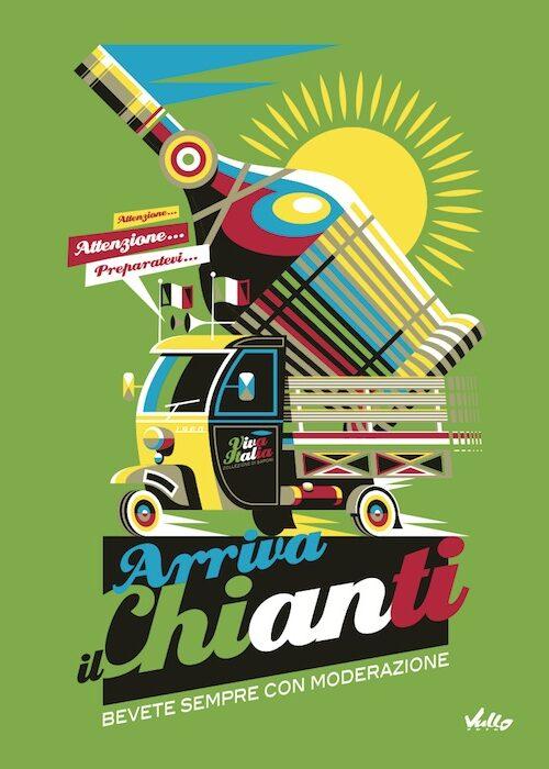 Arriva Il Chianti postcard