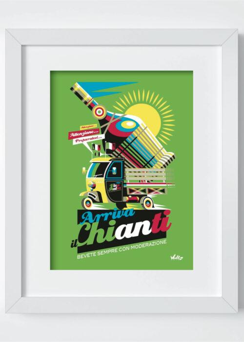 Carte postale Arriva Il Chianti avec cadre