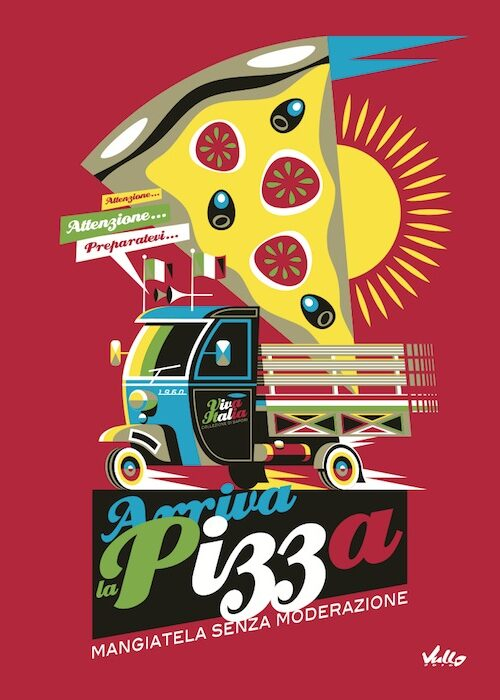 Arriva La Pizza postcard