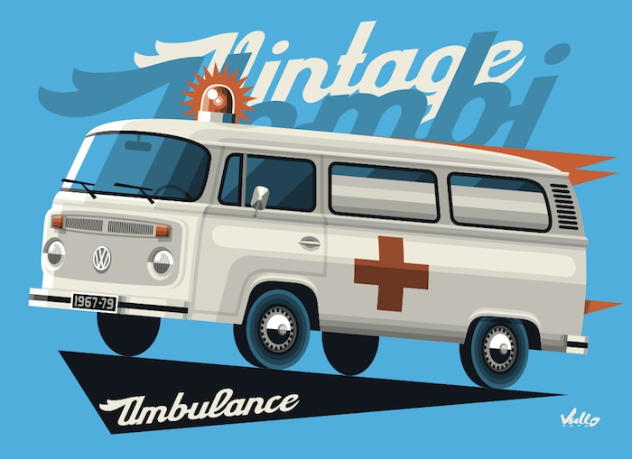 Carte postale Bay Window Ambulance