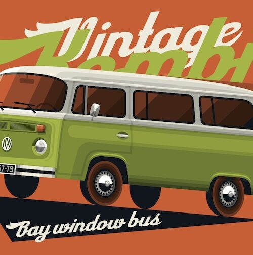 Bay Window Bus postcard