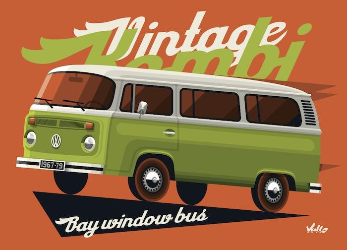 Carte postale Bay Window Bus