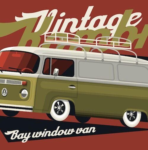 Bay Window Van postcard