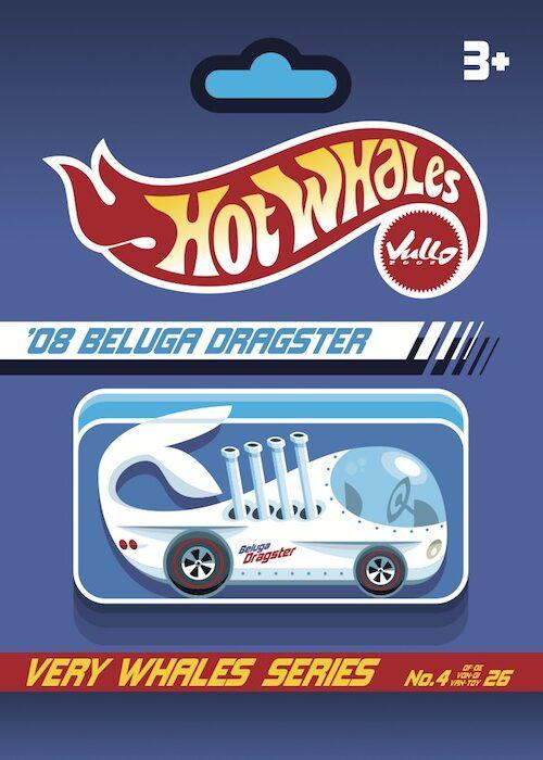 Carte postale Beluga Dragster