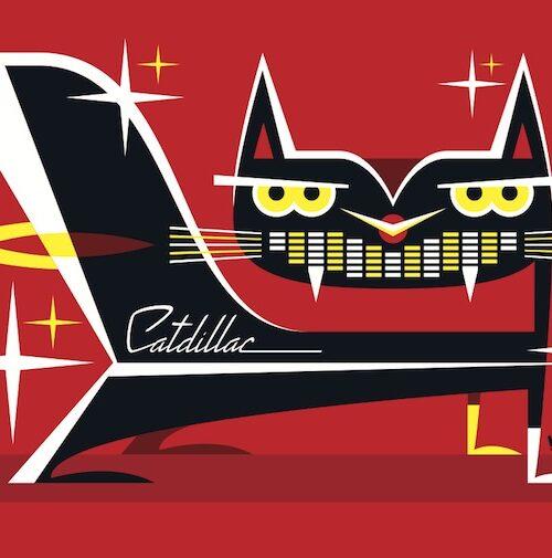 Carte postale Cat Dillac