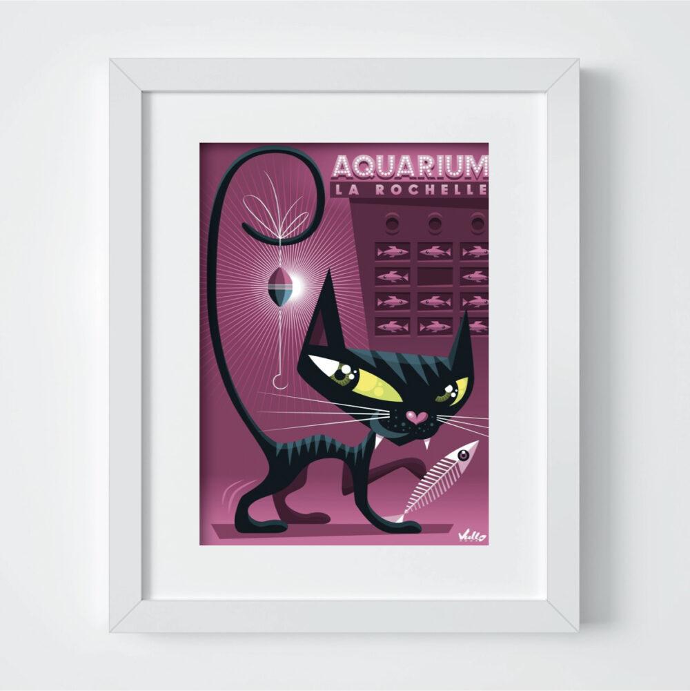 Carte postale Chaquarium avec cadre