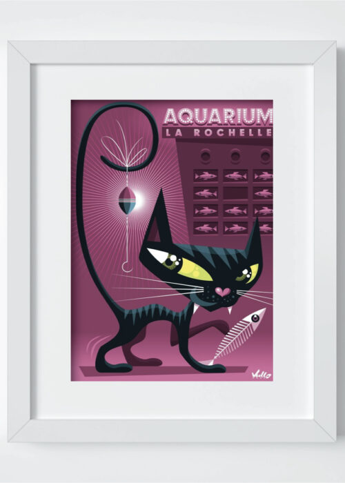 Chaquarium postcard with frame