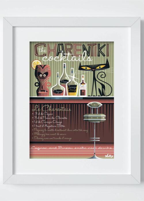 carte postale le charentais avec cadre