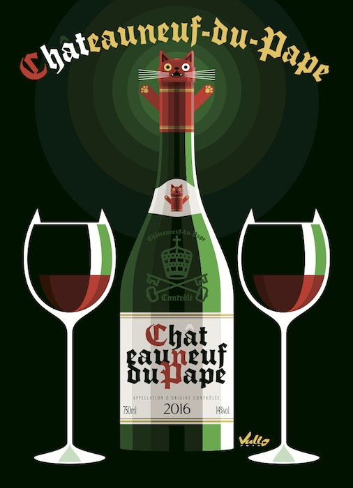 Carte postale Chat...Eauneuf-Du-Pape