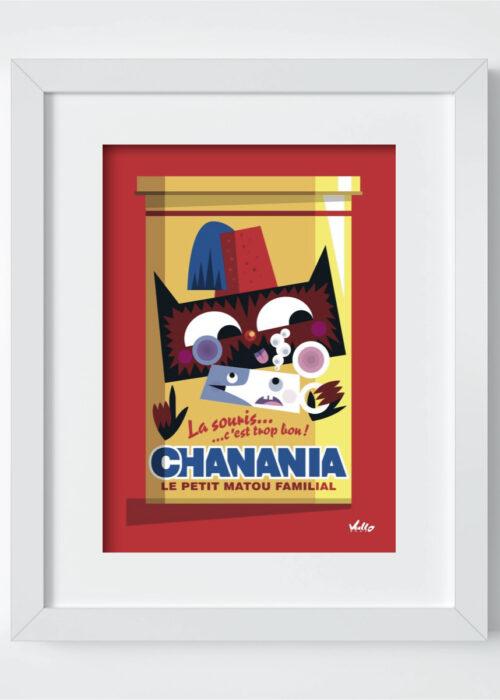 Carte postale Chat...Nania avec cadre