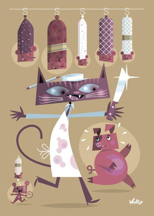 Carte postale Chat...Rcutier