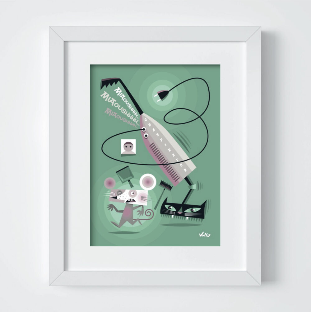 Carte postale Chat...Spirator avec cadre
