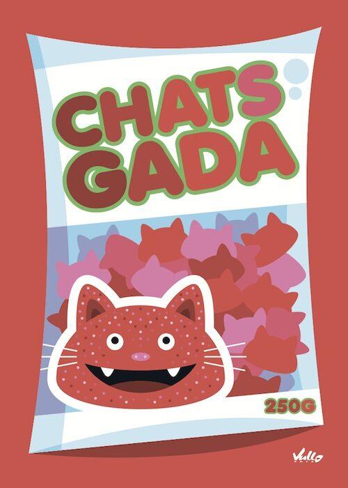 Carte postale Chats...Gada