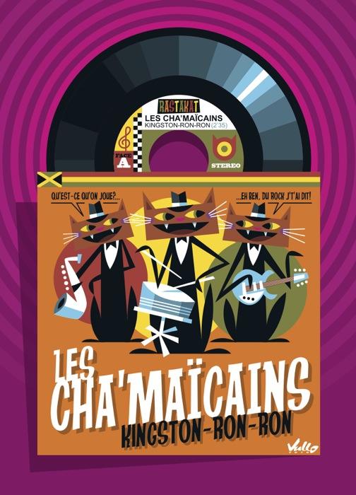 Carte postale Chats...Maïcains