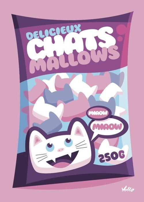 Chats...Mallows postcard