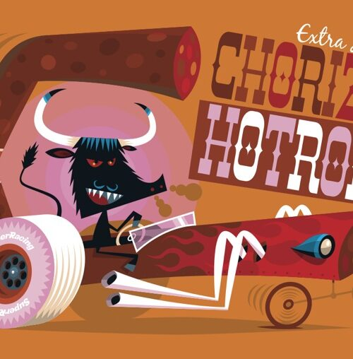 Carte postale Chorizo Hot Rod