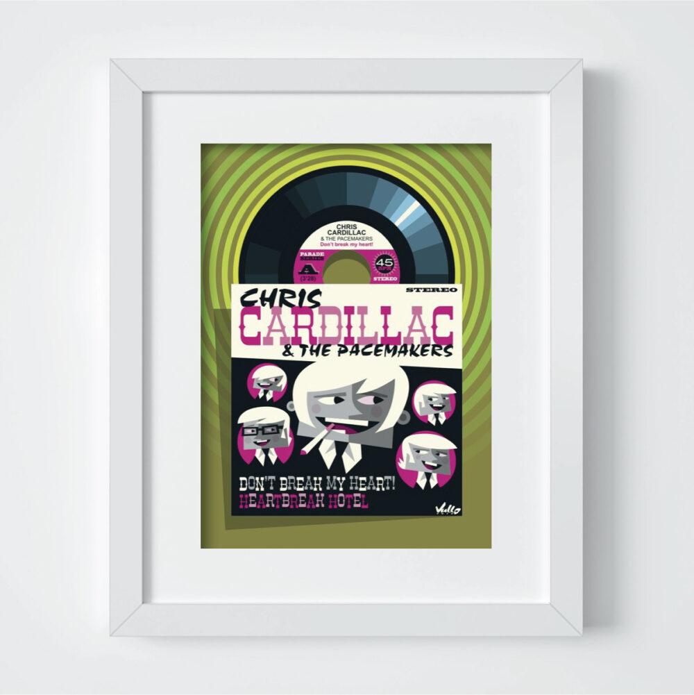 Carte postale Chris Cardillac avec cadre