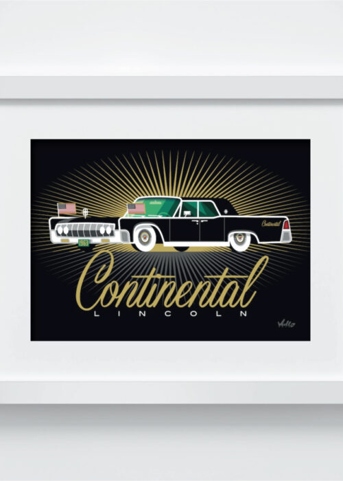Continental postcard with frame
