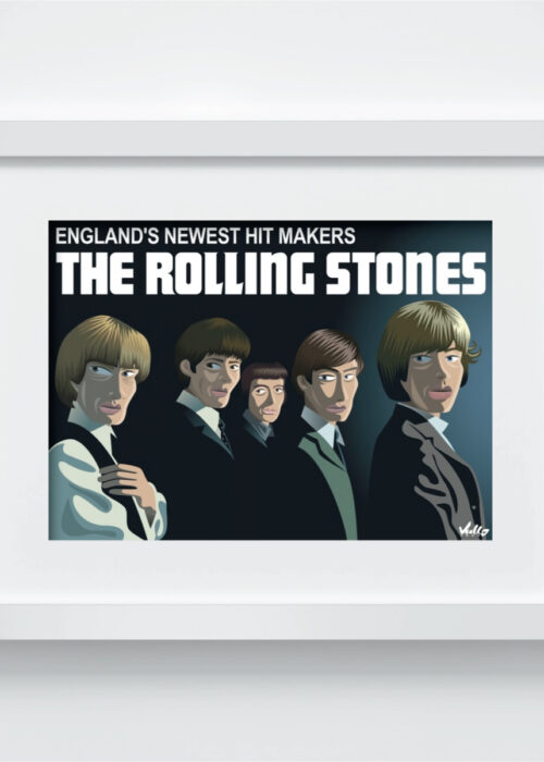 England's Newest Hit Makers postcard with frame
