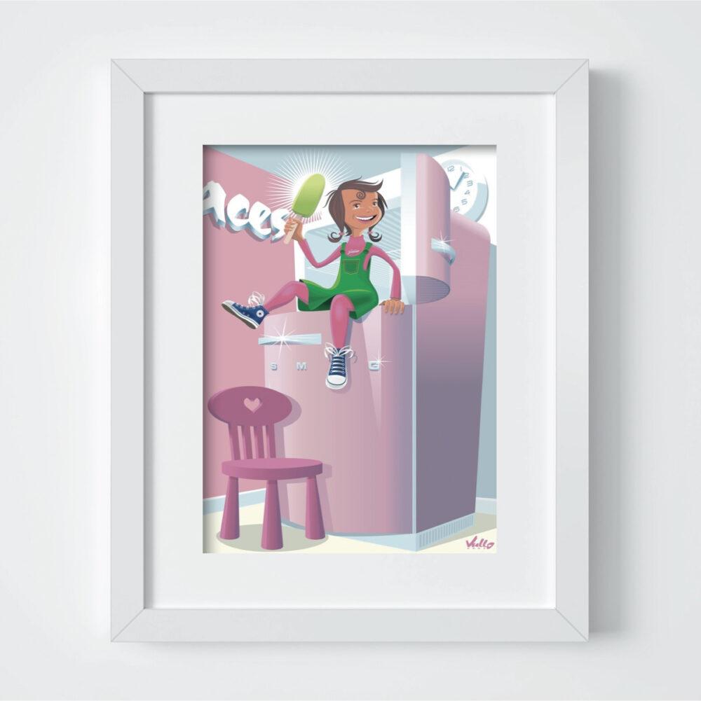 francesca frigo postcard with frame