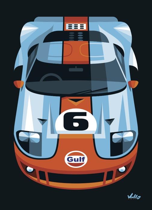 Carte postale GT 40