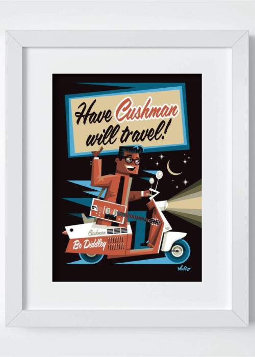 Have Cushman Wil Travel postcard with frame