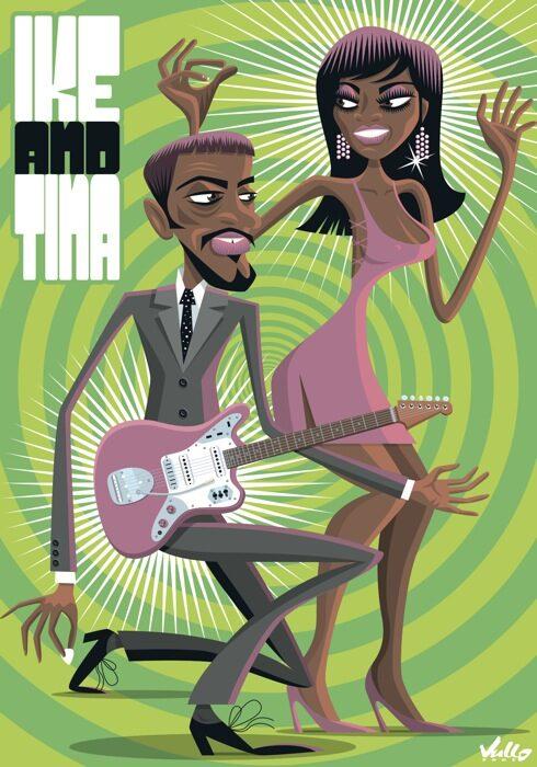 Ike And Tina postcard