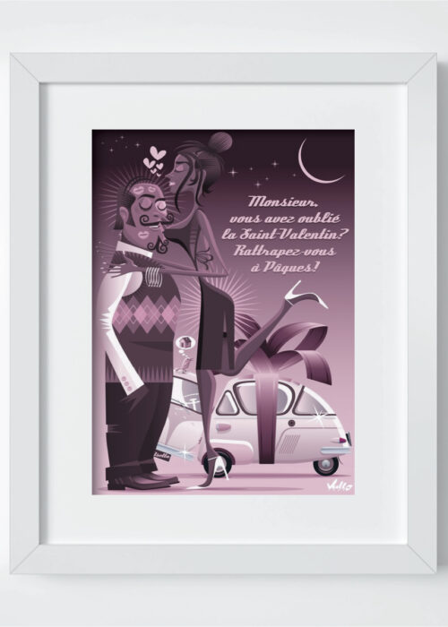 Isetta Pascale postcard with frame