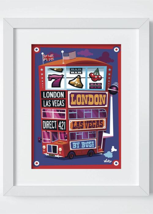 Carte postale Jackpot Bus avec cadre