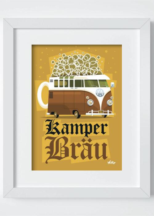 Carte postale Kamperbrau avec cadre