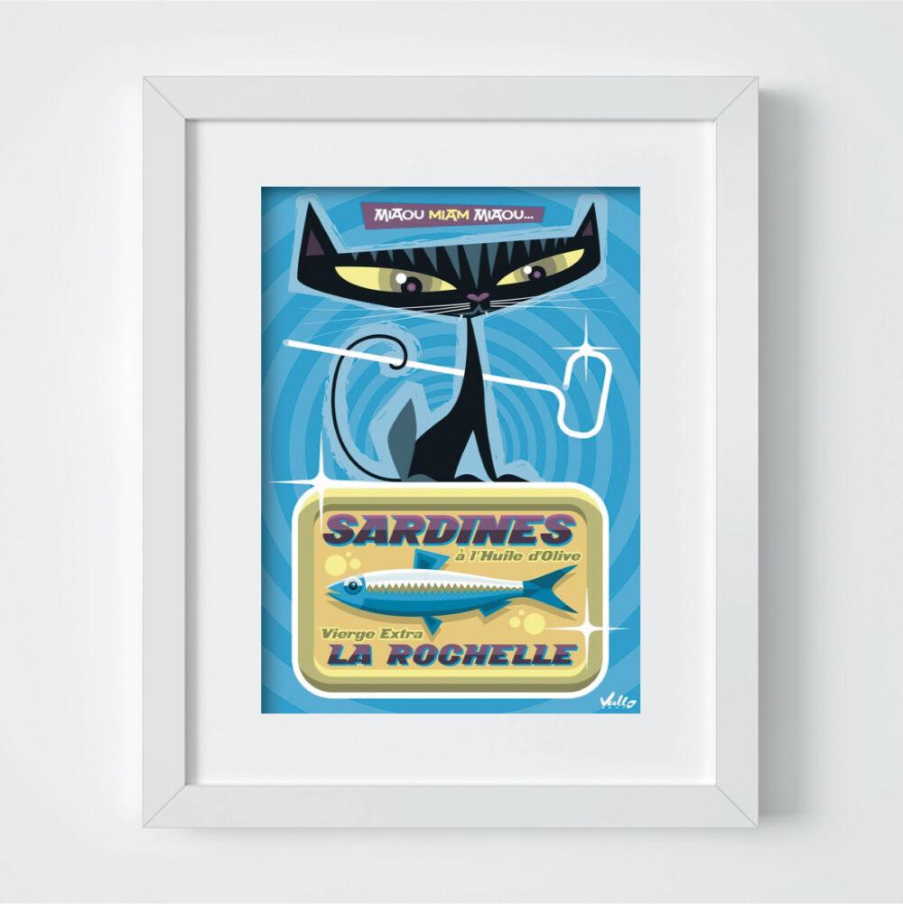 Carte postale La Boite À Chardines avec cadre